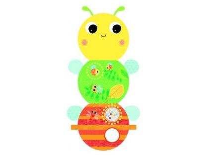 Bright Starts Knižka aktívna na C krúžku Beautiful Bugs včielka 0m+ 10708-6