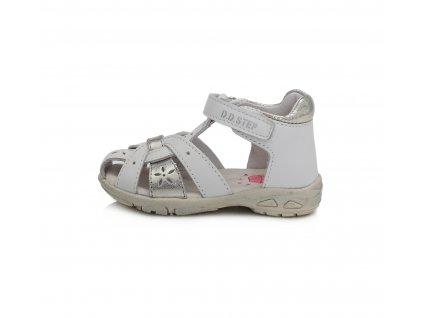 D.D.STEP kožené sandále AC290 white