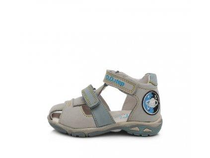 D.D.STEP kožené sandále AC290 vesmír -grey