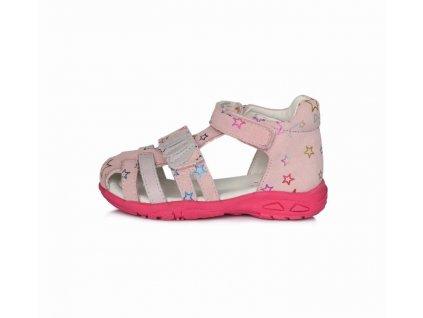 D.D.STEP kožené sandále AC290 lístky Mauve