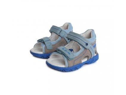 D.D.STEP kožené sandále AC625 grey