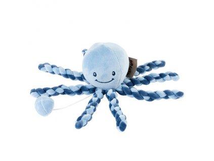 Nattou Prvá hračka bábätka hrajúca chobotnička PIU PIU Lapidou navy blue - light blue 0m+ AGS_879279