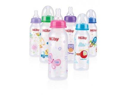 Nuby Fľaša dojčenská 1-2-3 prietok 240ml, 0-12m+ AGS_ID1486
