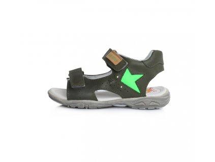 D.D.STEP kožené sandále LED Khaki
