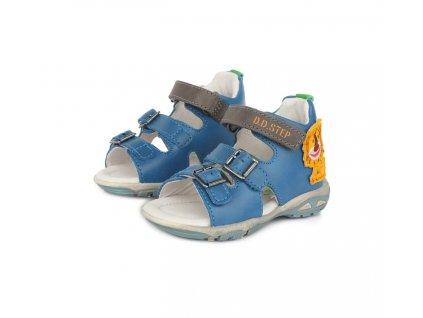 D.D.STEP kožené sandále LED Berumuda blue Levík
