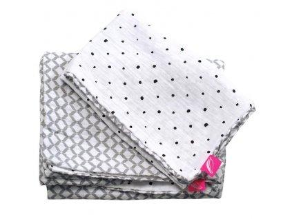 Motherhood Obliečky bavlnené mušelínové do postieľky Pre-Washed Grey Classics 2-dielne AGS_098138