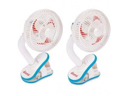 Ventilátor na kočík Stroller Fan 2ks