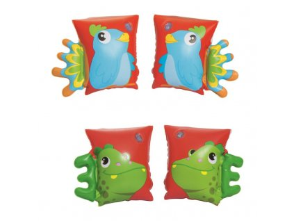 Bestway Nafukovacie rukávniky 2 druhy- dinosaurus, papagáj