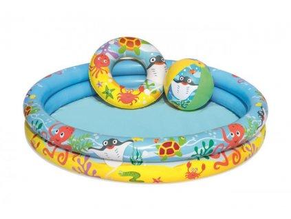 Bestway Nafukovací SET - bazén, plávacie koleso, lopta