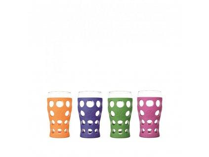 Lifefactory poháre 600ml 4ks mix farieb