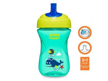 Chicco Hrnček Chicco Pokročilý so slamkovým náustkom 266 ml, zelený 12m+ AGS_06941.200G