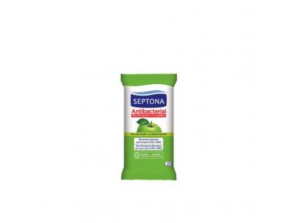 5201410612004 Septona vlhké utierky na ruky s vôňou zeleného jablka 15 ks