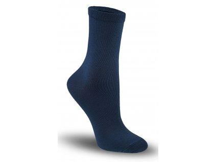 Tatrasvit TETRIK detské hladké bavlnené ponožky- tmavo modré