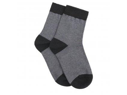 Tatrasvit PINKA detské klasické jednofarebné ponožky - čierne