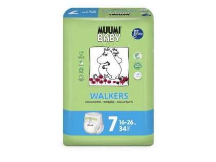 Muumi Nohavičky plienkové jednorázové 7 Extra Large 16-26kg 34ks Baby Muumi AGS_59515