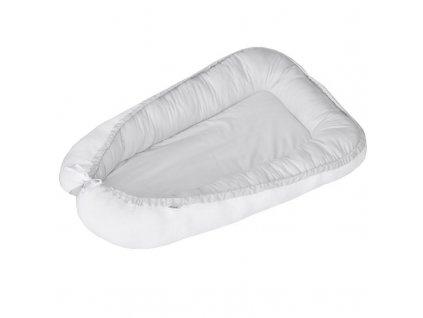 Eko Hniezdo pre bábätko obojstranné White-Gray 90x60cm AGS_CO-03-WHITE-GREY_20