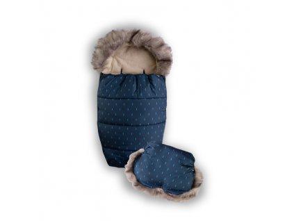 Babymatex Set fusak do kočíka a rukávnik s kožušinkou Ripples AGS_TB0308_V10