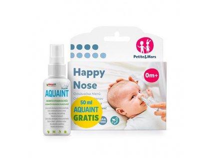 Petite&Mars Odsávačka nosných hlienov na vysávač Happy Nose Petite&Mars 0m+50ml Aquaint gratis AGS_910137