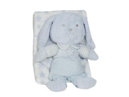 InterbabyINTERBABY   Deka hviezda s králikom - MODRÁ