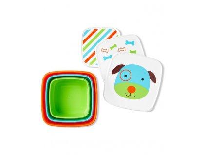 Skip Hop Zoo Misky desiatové 3 kusy Psík 12m+ AGS_9H776310