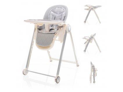 ZOPA Detská stolička Space, Ice Grey