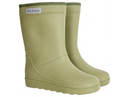 enfant thermo boots olive