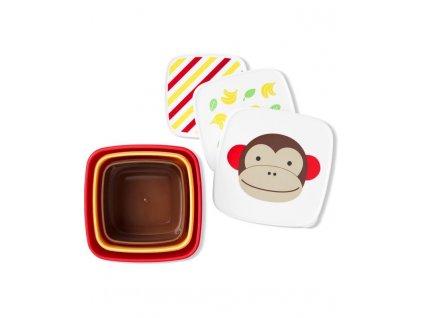 SKIPHOP Zoo Misky desiatové 3 kusy Opička 12m+