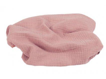 BABYMATEX Prikrývka bavlnená Muslin Svetlo Ružová 120x80 cm