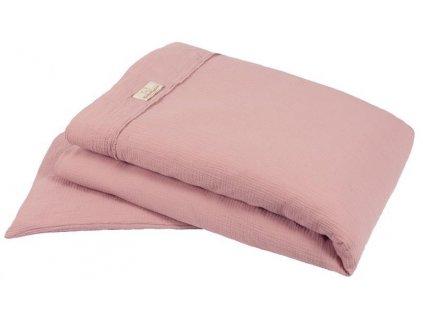 BABYMATEX Bielizeň posteľná Muslin Svetlo Ružová 2-dielna