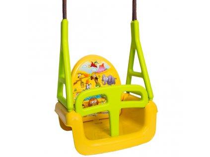 Detská hojdačka 3v1 safari Swing yellow