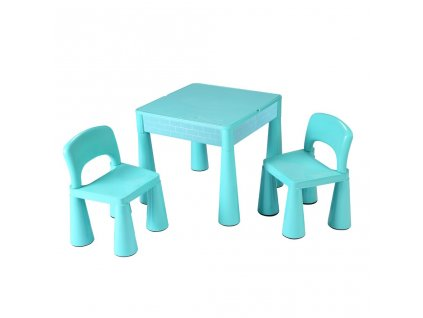 Detská sada stolček a dve stoličky NEW BABY mätový