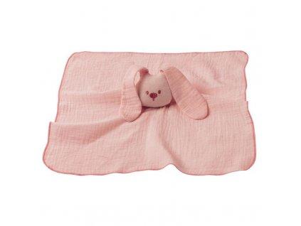 NATTOU Hračka maznáčik bavlnený Lapidou old pink 44x44 cm