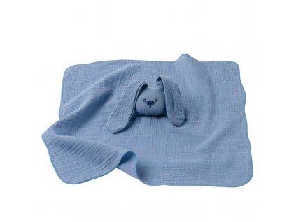 NATTOU Hračka maznáčik bavlnený Lapidou blue 44x44 cm
