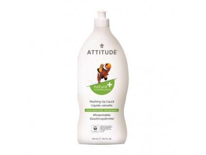 ATTITUDE ATTITUDE Prípravok na umývanie riadu s vôňou zeleného jablka a bazalky, 700 ml