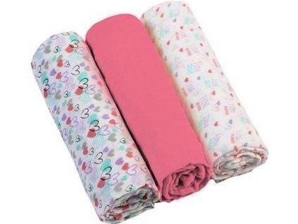 BABYONO Plienky mušelínové - Super soft 3ks - Ružové