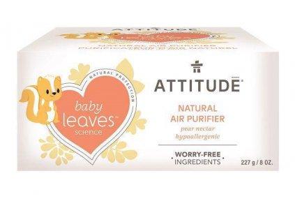 ATTITUDE ATTITUDE Prírodný čistiaci osviežovač vzduchu Baby leaves s vôňou hruškovej šťavy 227 g