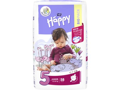BELLAHAPPY BELLA HAPPY Junior 5 (12-25 kg) Big Pack 58 ks – jednorazové plienky