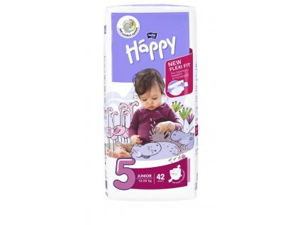 BELLAHAPPY BELLA HAPPY Junior 5 (12-25 kg) 42 ks – jednorazové plienky