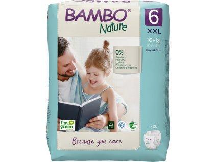 BAMBO BAMBO Nature Jednorázové plienky 6, 20 ks, pre 16+ kg
