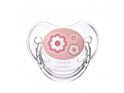 CANPOL Cumlík silikónový anatomický 0-6m Newborn Baby - ružová