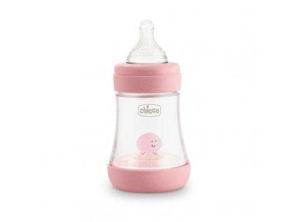 CHICCO CHICCO Fľaša dojčenská Perfect 5 silikón, 150 ml dievča
