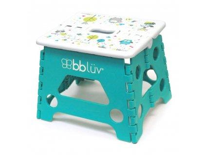 BBLÜV Stäp Skladacia stolička Aqua