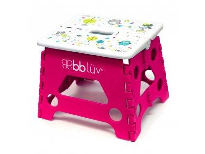 BBLÜV Stäp Skladacia stolička Pink