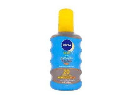 NIVEA NIVEA Sun Olej na opaľovanie Protect & Bronze OF20, 200 ml