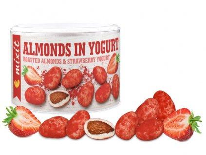 mandle v jogurtue s jahodami