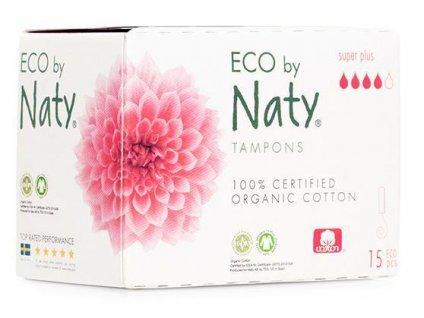 NATY Tampóny dámske Super Plus 15ks Naty Nature Babycare