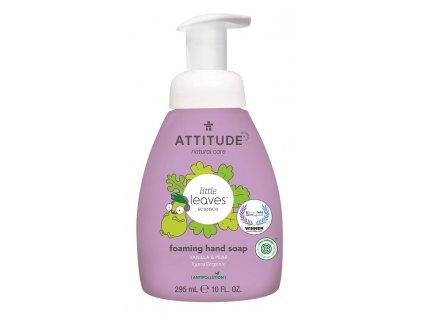 ATTITUDE ATTITUDE Detské penivé mydlo na ruky Little Leaves s vôňou vanilky a hrušky, 295 ml
