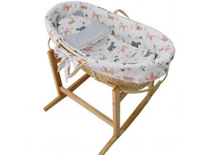 EKO EKO Kôš Mojžišov pre bábätko Natural so stojanom matrac + príslušenstvo Roe-Deer