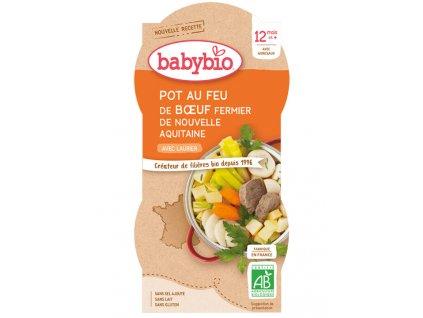 BABYBIO BABYBIO Menu zelenina s hovädzím mäsom (2x 200 g)