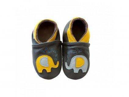 footstep kozene capacky sloniky sive